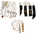 Timepieces:Watch Chains & Fobs, A Lot Of Sixteen Miscellaneous Watch Chains, Fobs & Items. ... (Total: 16 Items)