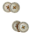 Estate Jewelry:Cufflinks, Antique Mother-of-Pearl, Enamel, Gold, Yellow Metal Cuff Links. ...
