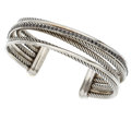 Estate Jewelry:Bracelets, Colored Diamond, White Gold, Sterling Silver Bracelet, DavidYurman. ...