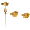 Estate Jewelry:Suites, Gold Cuff Links and Stick Pin. ...