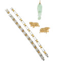 Estate Jewelry:Lots, Jade, Gold, Stainless Steel Jewelry. ...