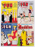 Magazines:Humor, Harvey Army and Navy Fun Parade/Hello Buddies Adult Digest FileCopy Long Box Group (Fun Parade, 1950s) Condition: Average VF....