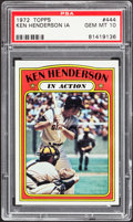 Baseball Cards:Singles (1970-Now), 1972 Topps Ken Henderson IA #444 PSA Gem Mint 10....