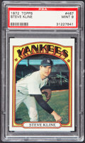 Baseball Cards:Singles (1970-Now), 1972 Topps Steve Kline #467 PSA Mint 9....