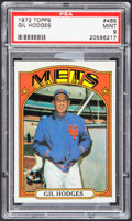 Baseball Cards:Singles (1970-Now), 1972 Topps Gil Hodges #465 PSA Mint 9....