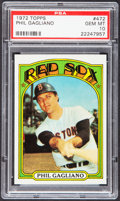Baseball Cards:Singles (1970-Now), 1972 Topps Phil Gagliano #472 PSA Gem Mint 10 - Pop Two....