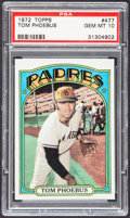 Baseball Cards:Singles (1970-Now), 1972 Topps Tom Phoebus #477 PSA Gem Mint 10....