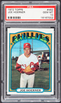 Baseball Cards:Singles (1970-Now), 1972 Topps Joe Hoerner #482 PSA Gem Mint 10 - Pop Two....