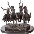 Sculpture, After Frederic Remington (American, 20th Century). Coming through the Rye. Bronze with brown patina. 27-1/2 inches (69.9...