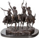 After Frederic Remington (American, 20th Century) Coming through the Rye Bronze with brown patina 27-1/2 inches (69.9