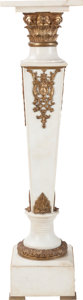 Decorative Arts, Continental, A Napoleon III Carrera Marble Column with Gilt Bronze Mounts, 19thcentury. 45 inches high (114.3 cm). PROPERTY FROM A DAL...