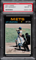 Baseball Cards:Singles (1970-Now), 1971 Topps Art Shamsky #445 PSA NM-MT 8....