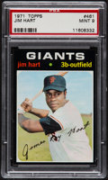 Baseball Cards:Singles (1970-Now), 1971 Topps Jim Hart #461 PSA Mint 9....