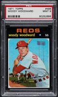 Baseball Cards:Singles (1970-Now), 1971 Topps Woody Woodward #496 PSA Mint 9....