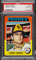 Baseball Cards:Singles (1970-Now), 1975 Topps Larry Hardy #112 PSA Gem Mint 10....