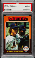 Baseball Cards:Singles (1970-Now), 1975 Topps Wayne Garrett #111 PSA Mint 9....