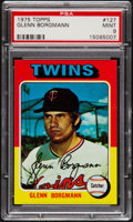 Baseball Cards:Singles (1970-Now), 1975 Topps Glenn Borgmann #127 PSA Mint 9....