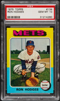 Baseball Cards:Singles (1970-Now), 1975 Topps Ron Hodges #134 PSA Gem Mint 10....