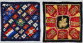 """Luxury Accessories:Accessories, Hermes Set of Two 90cm Silk Scarves; Navy Blue & Red """"Pavois,"""" by Philippe Ledoux and Red & Black """"Les Muserolles,"""" by Christi... (Total: 2 Items)"""