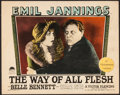 "Movie Posters:Drama, The Way of All Flesh (Paramount, 1927). Lobby Card (11"" X 14""). Drama.. ..."