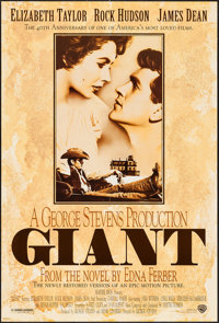 "Giant (Warner Brothers, R-1996). One Sheet (27"" X 40"") DS. Drama"