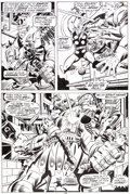 Original Comic Art:Panel Pages, John Buscema and Joe Sinnott Thor #242 Page 16 Hogun andFandral Original Art (Marvel, 1975)....