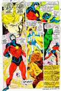 Original Comic Art:Miscellaneous, Captain Marvel #17 Hand-Painted Color Guide (Marvel,1969)....