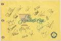 Golf Collectibles:Autographs, 2013 President's Cup Multi Signed Flag - With Jordan Spieth!...