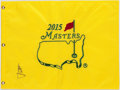 Golf Collectibles:Autographs, Jordan Spieth Signed Masters Flag....