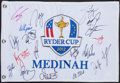 Autographs:Bats, 2012 Ryder Cup Multi Signed Flag....