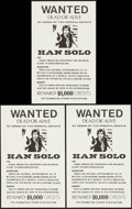 "Movie Posters:Science Fiction, Star Wars Wanted Poster (1970s). Unlicensed Posters (3) (11"" X17.5""). Science Fiction.. ... (Total: 3 Items)"