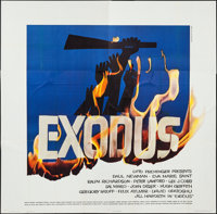 "Exodus (United Artists, 1960). Six Sheet (78"" X 80""). Drama"
