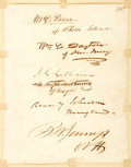 Autographs:Statesmen, Statesmen John C. Calhoun and Reverdy Johnson Signatures....