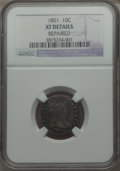 Early Dimes, 1801 10C JR-1, R.4 -- Repaired -- NGC Details. XF....