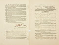 Autographs:Military Figures, [Ulysses S. Grant]. Lorenzo Thomas Signed Copy of General Orders No. 42....