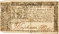 Miscellaneous:Ephemera, [Colonial Currency]. Eight Dollar Continental Currency Note....