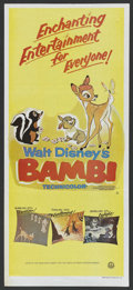 "Movie Posters:Animated, Bambi (Buena Vista, R-1988). Australian Daybill (13.25"" X 30"").Animated. ..."