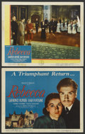 """Movie Posters:Hitchcock, Rebecca (United Artists, R-1946). Title Lobby Card and Lobby Card(11"""" X 14""""). Hitchcock. ... (Total: 2 Items)"""