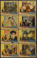 "Movie Posters:Adventure, Souls at Sea (Paramount, 1937). Lobby Card Set of 8 (11"" X 14"").Adventure. ... (Total: 8 Items)"