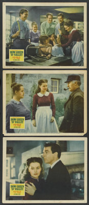 "How Green Was My Valley (20th Century Fox, 1941). Lobby Cards (3) (11"" X 14""). Drama. ... (Total: 3 Items)"