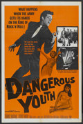 "Movie Posters:Rock and Roll, Dangerous Youth (Warner Brothers, 1958). One Sheet (27"" X 41"").Rock and Roll...."