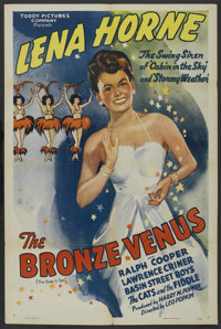 """The Bronze Venus (Toddy Pictures, R-1940s). One Sheet (27"""" X 41"""") and Press Book (Multiple Pages). Black Films..."""