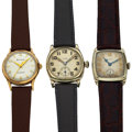 Timepieces:Wristwatch, Two Elgin's & One Bulova Manual Wind Wristwatches. ... (Total: 3 Items)