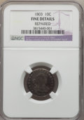 Early Dimes: , 1803 10C -- Repaired -- NGC Details. Fine. NGC Census: (2/16). PCGSPopulation (4/37). Mintage: 33,040. Numismedia Wsl. Pri...
