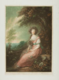 Books:Prints & Leaves, Thomas Gainsborough. Modern Mezzotint Proof Print after a Painting by Gainsborough Entitled, Mrs. Sheridan. [N.p., n...