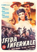 "Movie Posters:Western, My Darling Clementine (20th Century Fox, 1947). Italian 4 - Foglio(55"" X 78"").. ..."