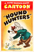 "Movie Posters:Animation, Hound Hunters (MGM, 1947). Tex Avery One Sheet (27"" X 41"").. ..."