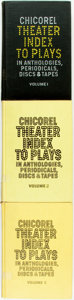 Books:Reference & Bibliography, [Bibliography]. [Theater]. Marietta Chicorel, editor. ChicorelTheater Index to Plays in Anthologies, Periodicals, Discs...(Total: 3 Items)