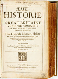 [John Speed]. The Historie of Great Britaine under the Conquests of the Romans, Saxons, Danes and Normans: Thei