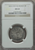 Mexico, Mexico: Republic 2 Reales 1833/2 Mo-MJ/JM MS64 NGC,...